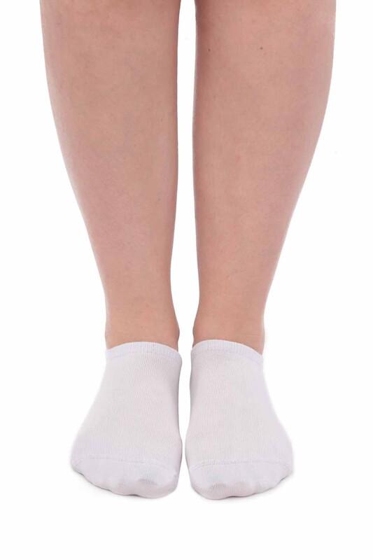 SİMİSSO - Pola Bambu Sneakers Kadın Çorap   Beyaz