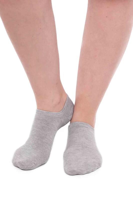 SİMİSSO - Pola Bambu Sneakers Kadın Çorap   Gri