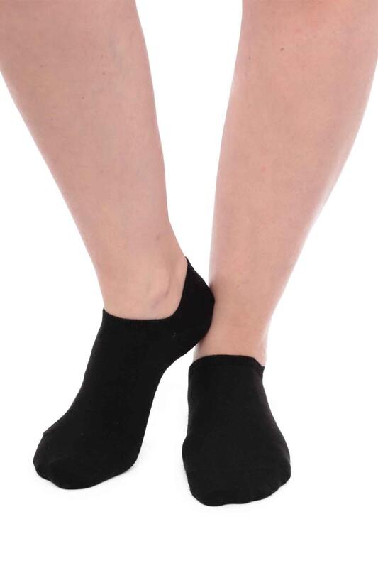 SİMİSSO - Pola Bambu Sneakers Kadın Çorap   Siyah