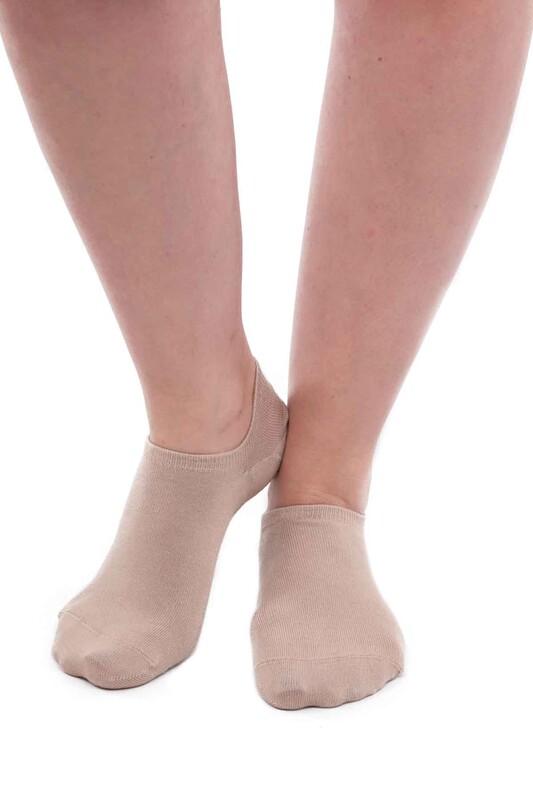 SİMİSSO - Pola Bambu Sneakers Kadın Çorap   Vizon