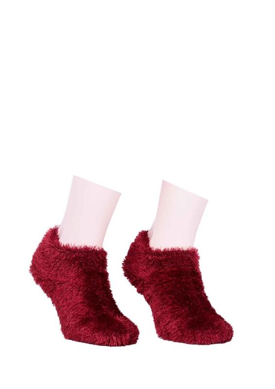 SUVE GOLD - Püsküllü Peluş Çorap 116 | Bordo