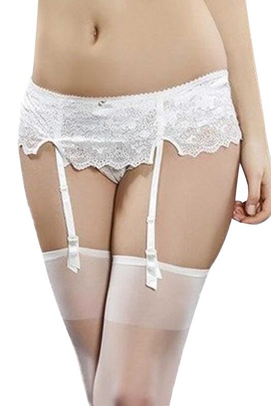 DAYMOD - DayMod Dori Jartiyer Çorap   Beyaz