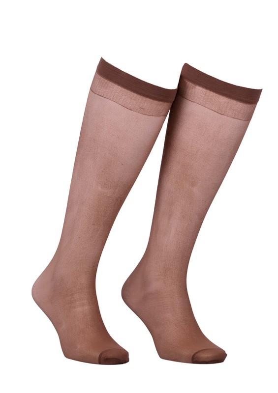MÜJDE - Müjde İnce Lastikli Çorap 20 den 006 | Bronz