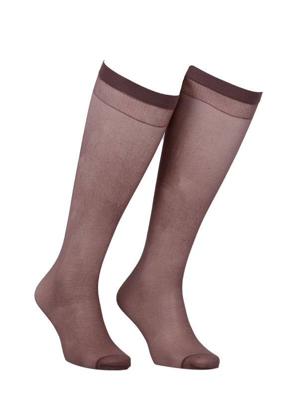 MÜJDE - Müjde İnce Lastikli Çorap 20 den 006 | Vizon