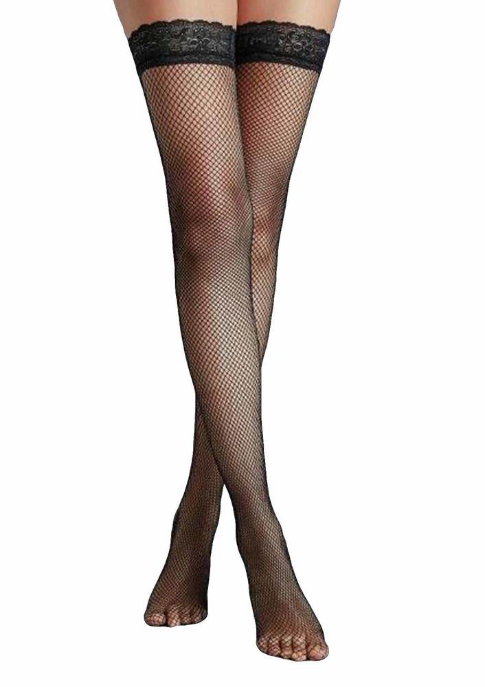 Penti İnce File Jartiyer Çorabı | Siyah