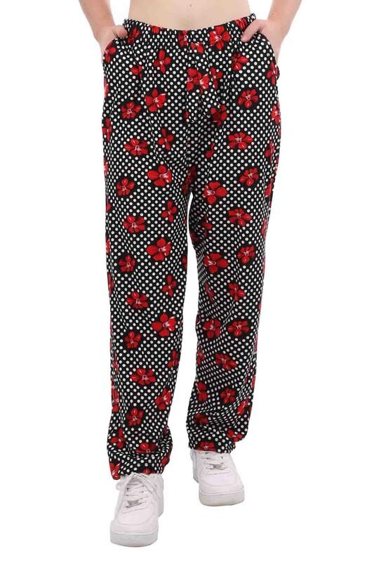 DOĞAN - Doğan Desenli Battal Süet Pantolon 21648   Kırmızı