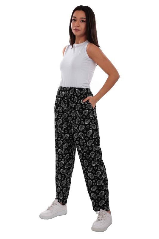 DOĞAN - Doğan Desenli Battal Süet Pantolon 21643   Siyah