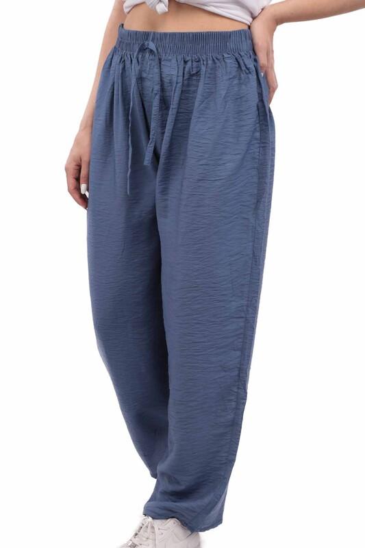 SİMİSSO - Kadın Bol Paça Pantolon | Mavi