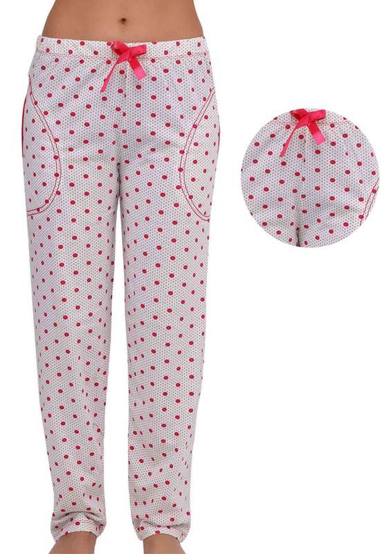 ARCAN - Puantiyeli Kadın Pijama Altı 034 | Pembe