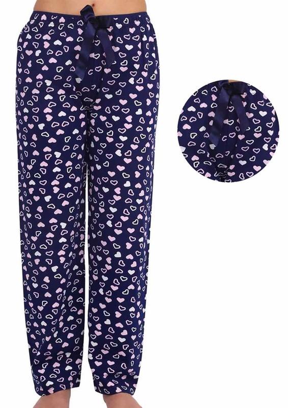 DOGİ - Kalpli Kurdeleli Bol Paçalı Pijama Altı 003 | Pembe