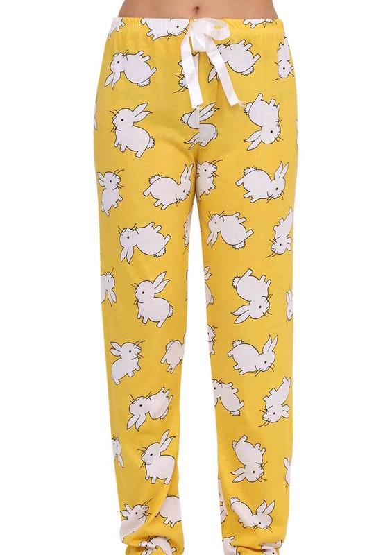 FAMES - Tavşanlı Dar Paçalı Pijama Altı 002 | Sarı