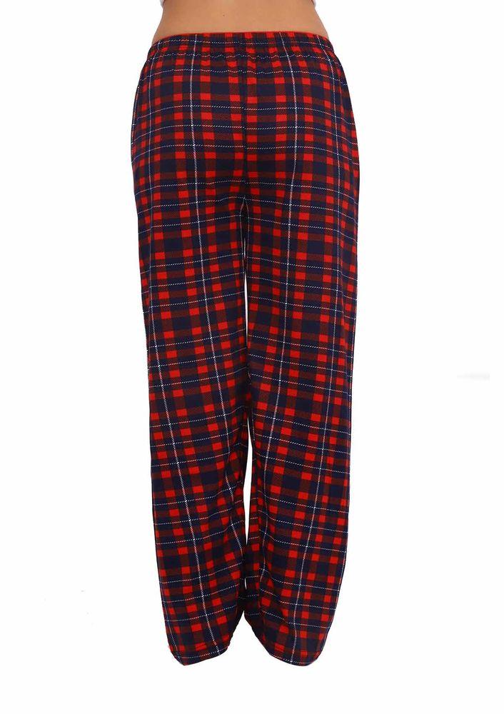 Boru Paçalı Kareli Pijama Altı 089 | Lacivert