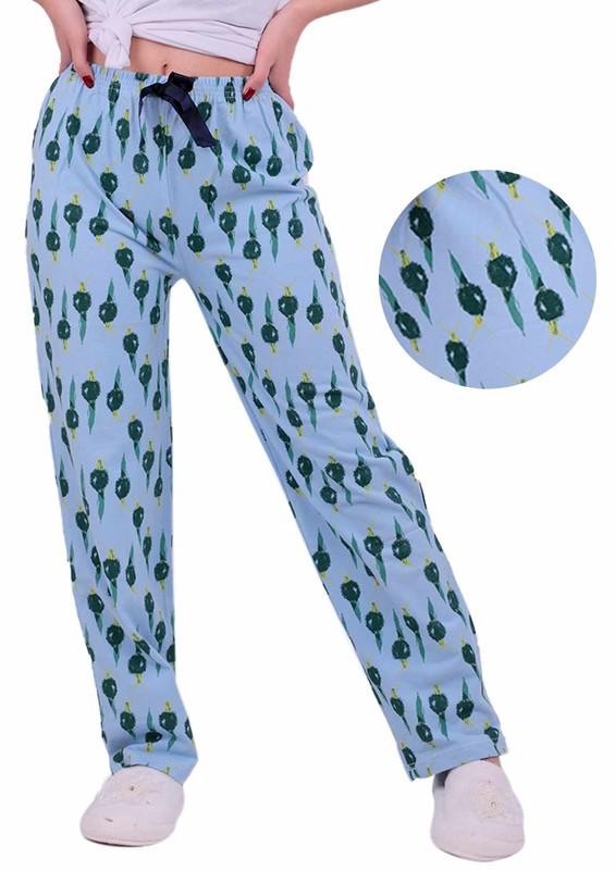 RİNDA - Desenli Pijama Altı 1141 | Mavi