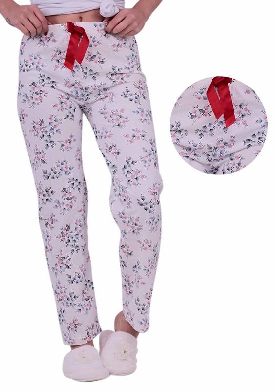 RİNDA - Desenli Pijama Altı 1138 | Beyaz