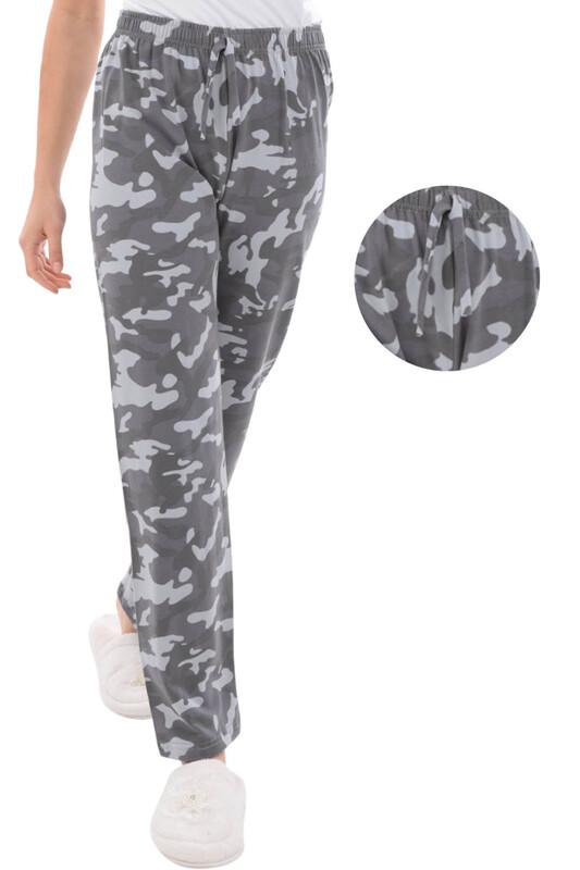 RİNDA - Askeri Desenli Kadın Pijama Altı | Gri