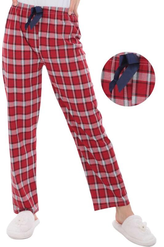 RİNDA - Çizgili Kadın Pijama Altı 1408 | Kırmızı