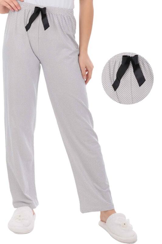 RİNDA - Çiçek Desenli Kadın Pijama Altı 1412 | Beyaz