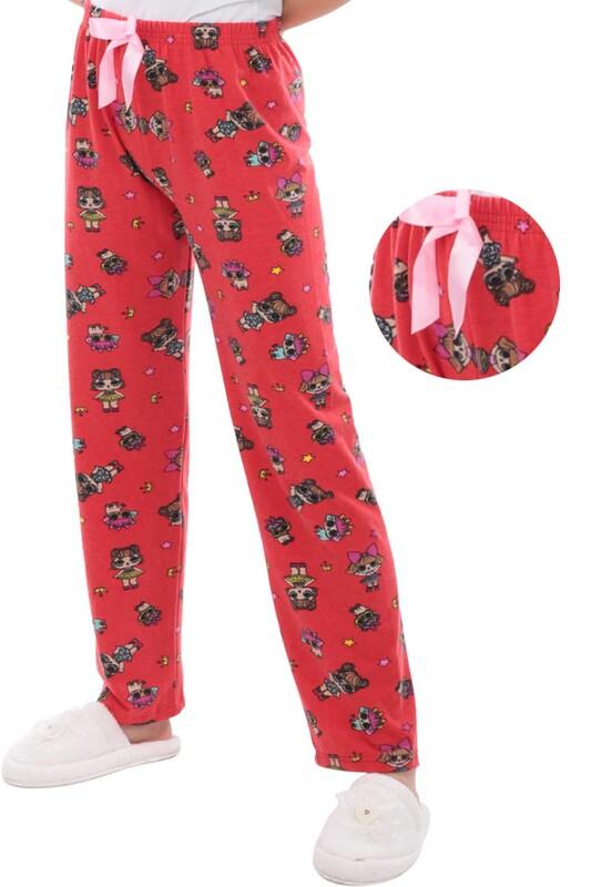 RİNDA - Bebek Desenli Kadın Pijama Altı 1417 | Kırmızı