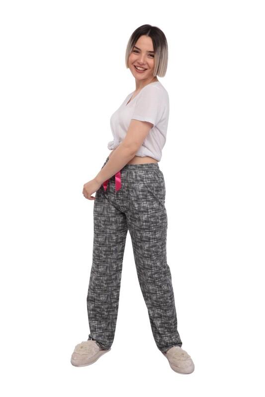 RİNDA - Desenli Kadın Pijama Altı 958 | Gri