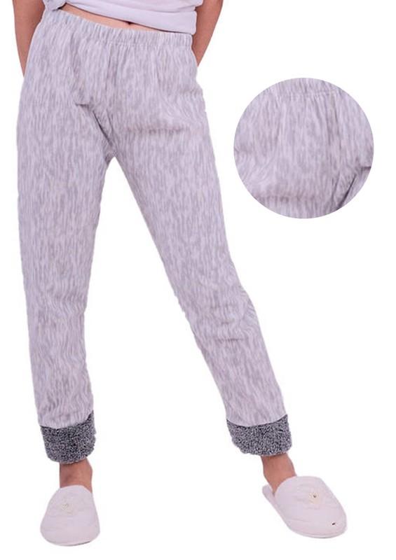 SİMİSSO - Desenli Polar Pijama Altı | Gri