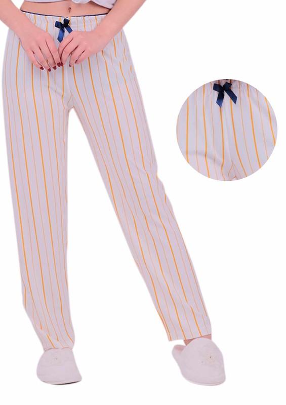 SİMİSSO - Sarı Çizgili Pijama Altı | Beyaz
