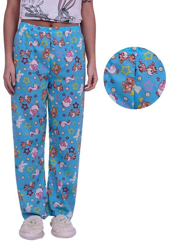 SİMİSSO - Tavşan Desenli Kadın Pijama Altı | Mavi