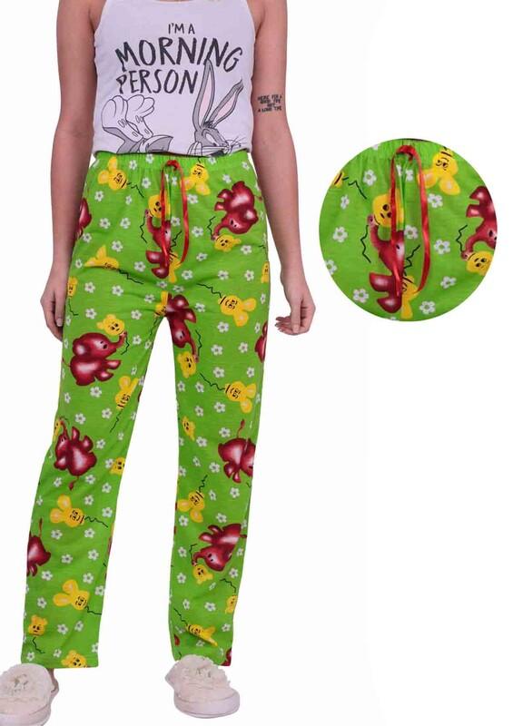 SİMİSSO - Fil Desenli Kadın Pijama Altı | Yeşil