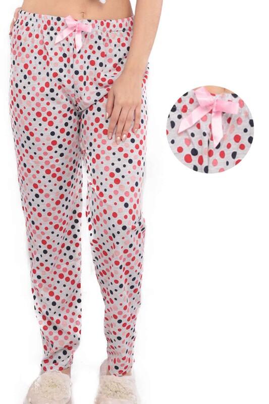 SİMİSSO - Puantiye Desenli Kadın Pijama Altı | Kırmızı