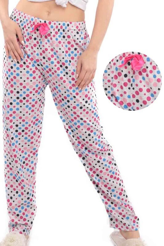 SİMİSSO - Puantiye Desenli Kadın Pijama Altı | Fuşya