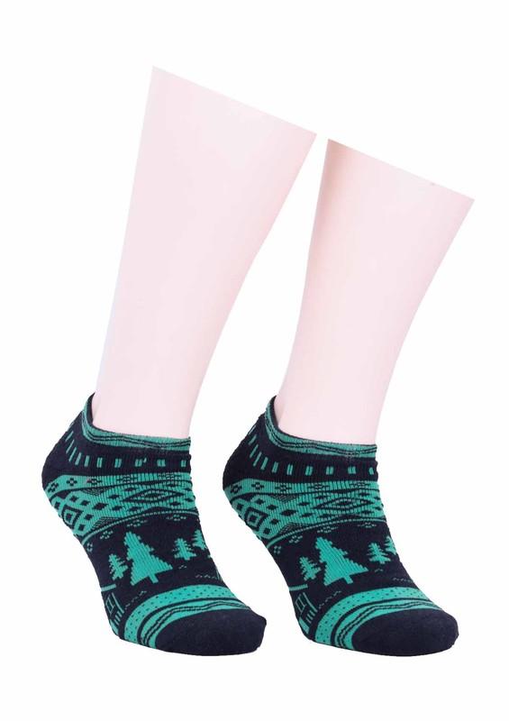 ARC - Arc Havlu Desenli Patik Çorap 213 | Yeşil