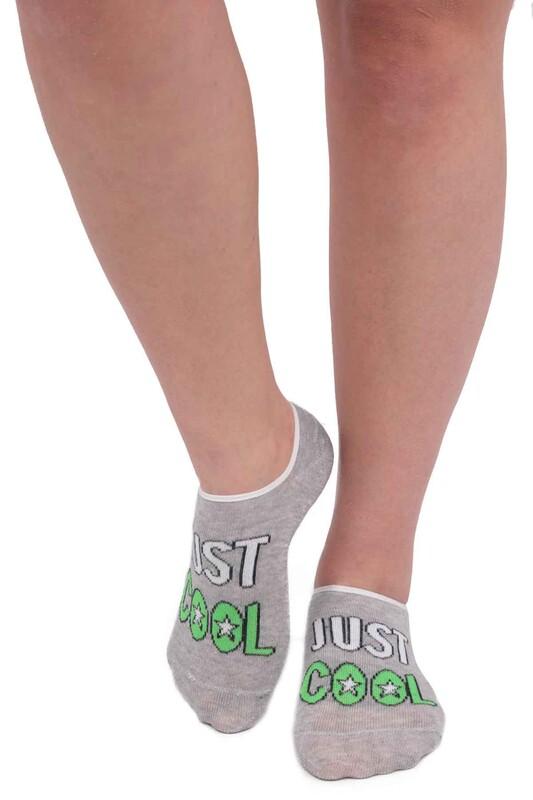 ARC - Arc Yazı Desenli Kadın Soket Çorap 204 | Gri