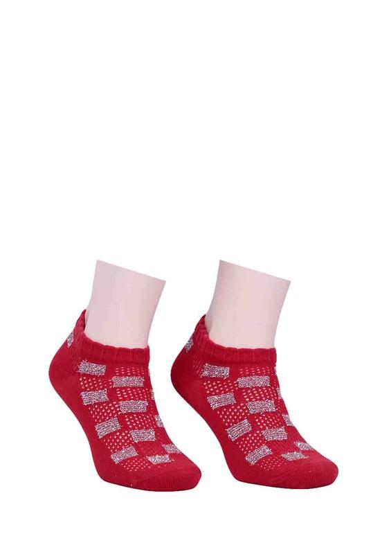 CALZE VİTA - Calze Vita Desenli Çorap 343 | Kırmızı