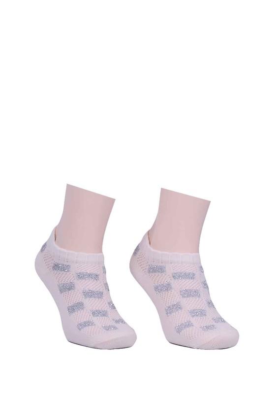 CALZE VİTA - Calze Vita Desenli Çorap 343 | Krem