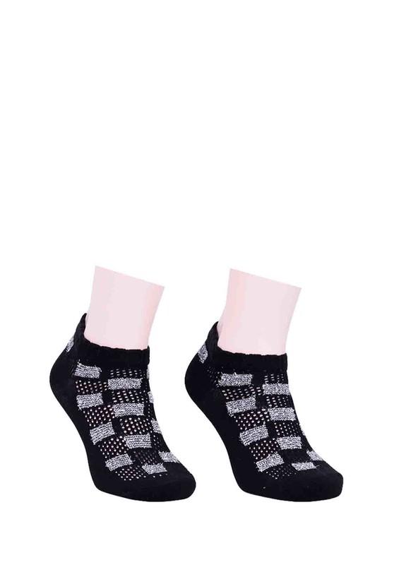 CALZE VİTA - Calze Vita Desenli Çorap 343 | Siyah