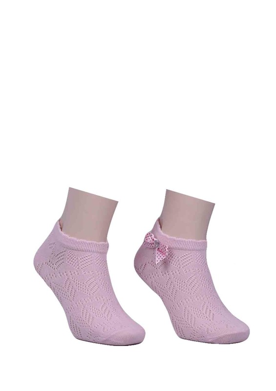 CALZE VİTA - Calze Vita Kurdeleli Çorap 347 | Pudra