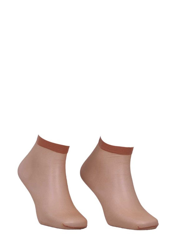 DAYMOD - Daymod İnce Parlak Soket Çorap Fity 15 | Ten