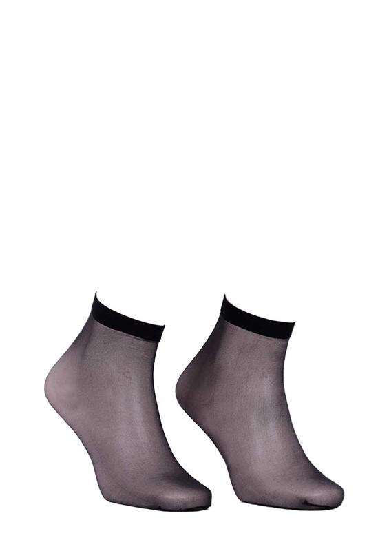 DAYMOD - Daymod İnce Parlak Soket Çorap Fity 15 | Siyah