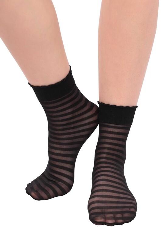 DAYMOD - DayMod Zebra Soket Çorap | Siyah