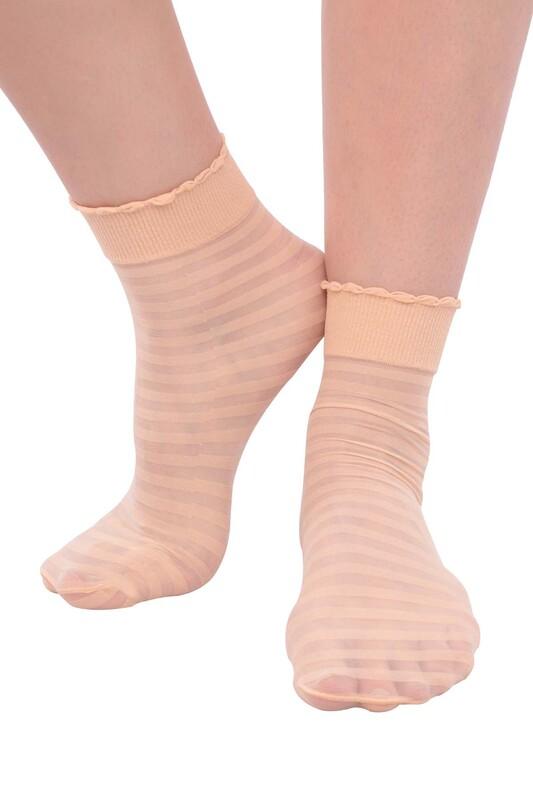DAYMOD - DayMod Zebra Soket Çorap | Naturel
