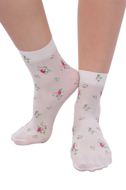 DAYMOD - DayMod Trend Soket Çorap | Ekru