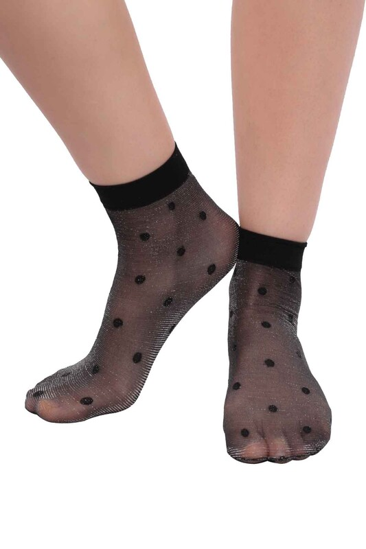 DAYMOD - DayMod Güneş Simli Soket Çorap | Siyah