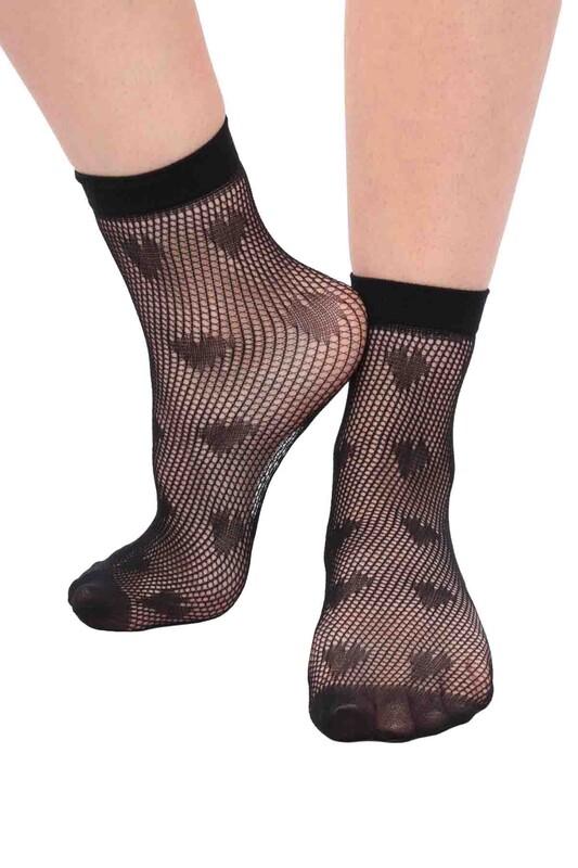 DAYMOD - DayMod Rose Soket Çorap | Siyah