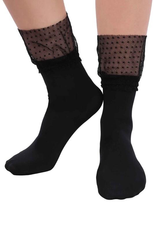 DAYMOD - DayMod Mycro Tül Soket Çorap | Siyah