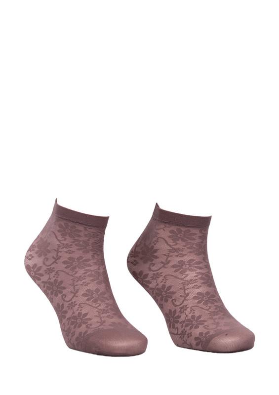 DESİMO - Desimo Çiçekli Vizon Soket Çorap 342 | Vizon
