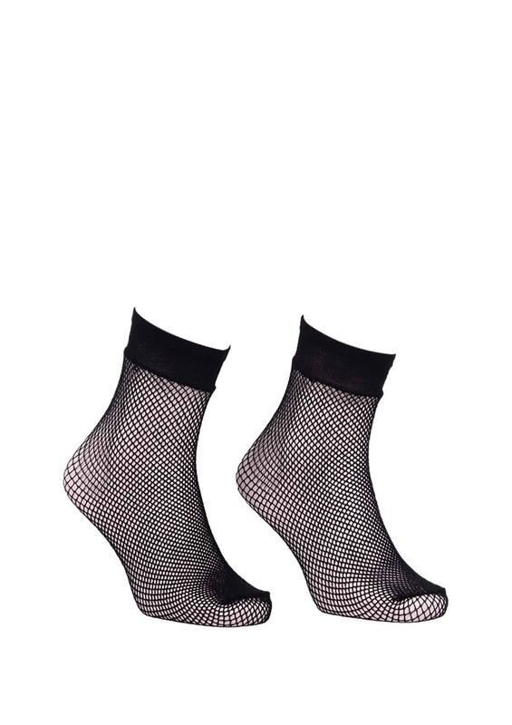 DORE - Dore Sık File Siyah Soket Çorap 213 | Siyah