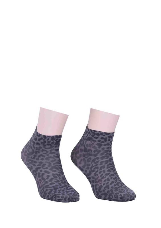 DORE - Dore Leoparlı Füme Soket Çorap 214 | Füme