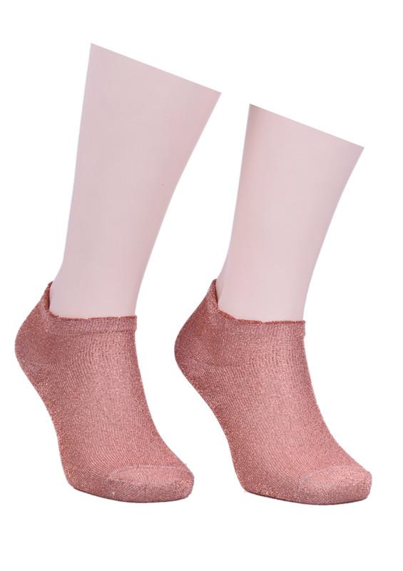 İLBAŞ - Desenli Soket Çorap 402   Pudra