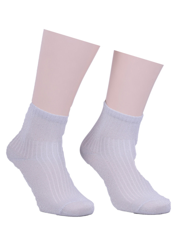 İLBAŞ - Çizgili Soket Çorap 521 | Gri