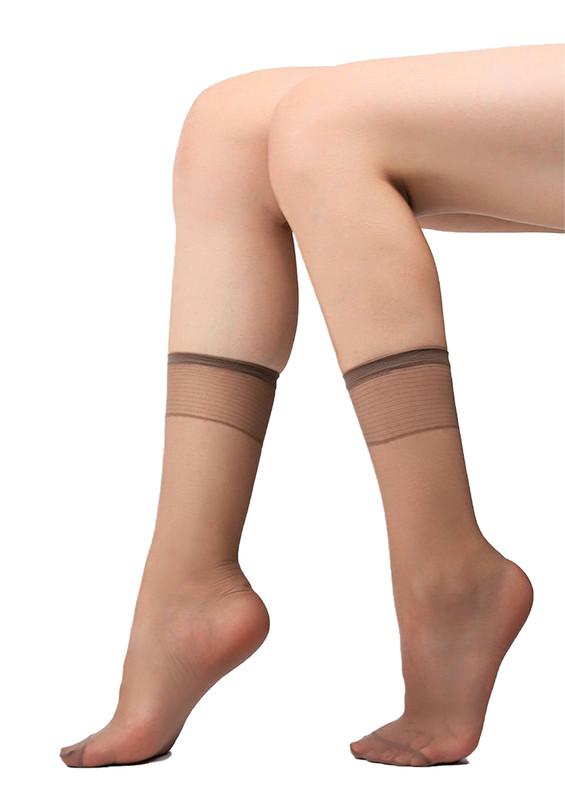 MÜJDE - Müjde İnce Soket Çorap 007 | Vizon