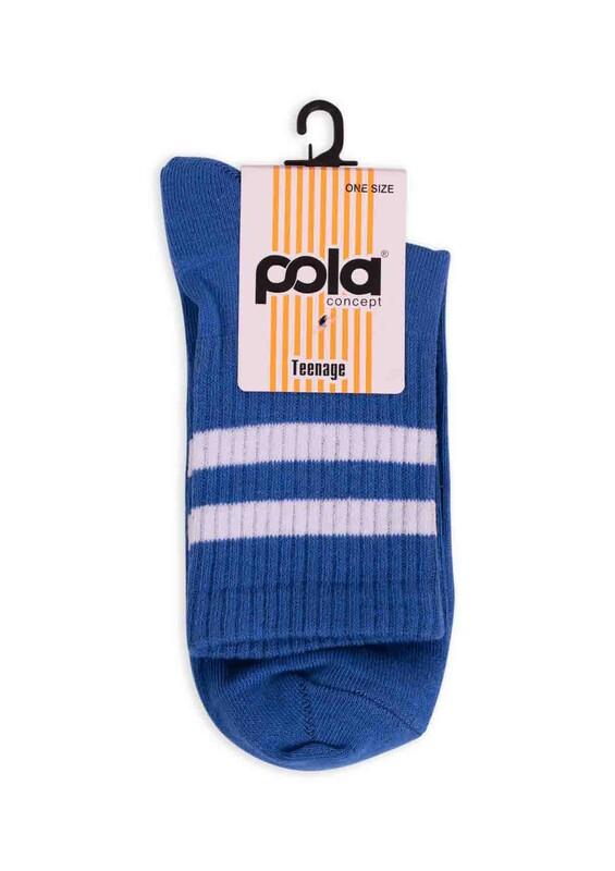 SİMİSSO - Pola Teenage Kadın Soket Çorap   Mavi